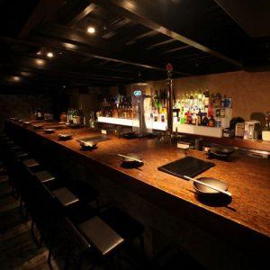 小倉の居酒屋,らんのカウンター
