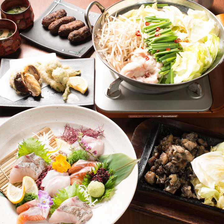 小倉にある鶏料理が自慢の居酒屋【焼鳥酒膳 鸞「らん」】の朱雀コース